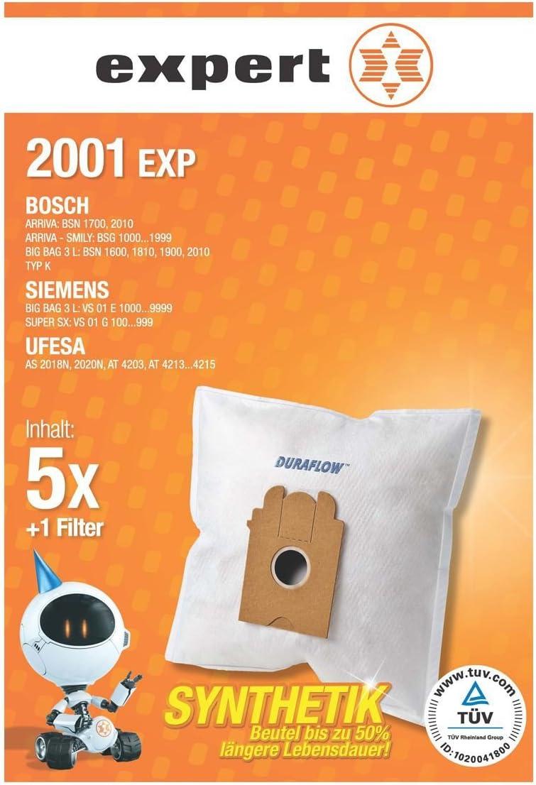 Expert 2001 EXP Bolsa para el polvo (DEXT 222 Duraflow) para Bosch Siemens Ufesa Privileg Profilo: Amazon.es: Electrónica