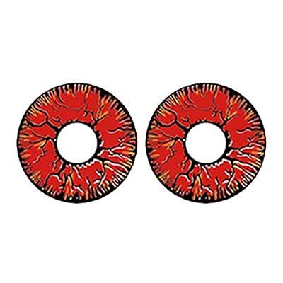 Ncient Un Par Lentillas Cosplay Colores Lentes de Contacto 0 Grado de Cosmético de Disfraz Ojos Maquillaje,Lanzamiento Annual: Hogar