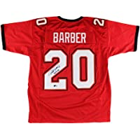 "$129 » Ronde Barber Autographed/Signed Tampa Bay Custom Red Jersey with""Bucs 4 Life"" Inscription"