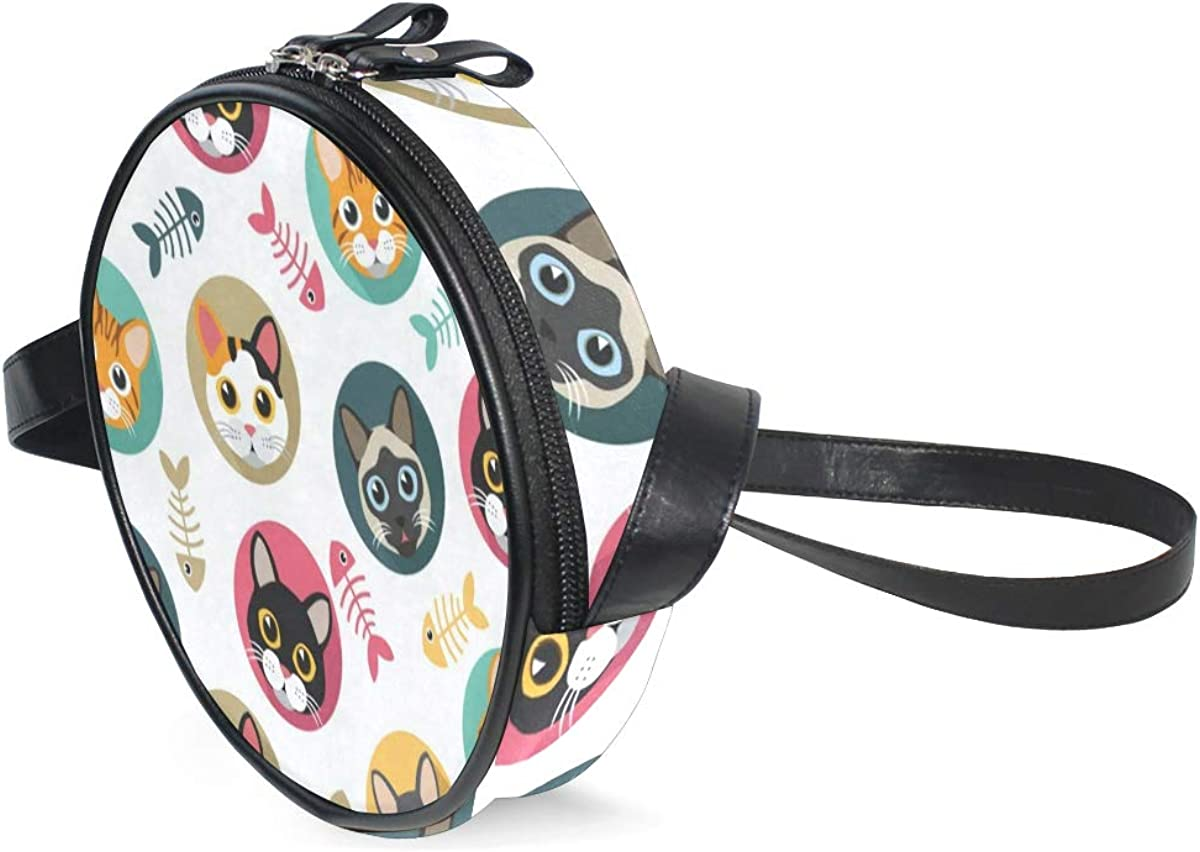 Round Crossbody Bag Cute...