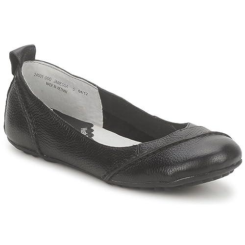 1c092b0ecc892 Hush Puppies® Women`n Janessa Leather Shoes Black Leather ballerina pump (3  EU36