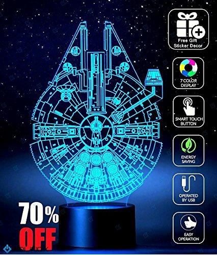 Millennium Falcon Star Wars Decoration Light Christmas Gift Advent Calendar 2017 Toys
