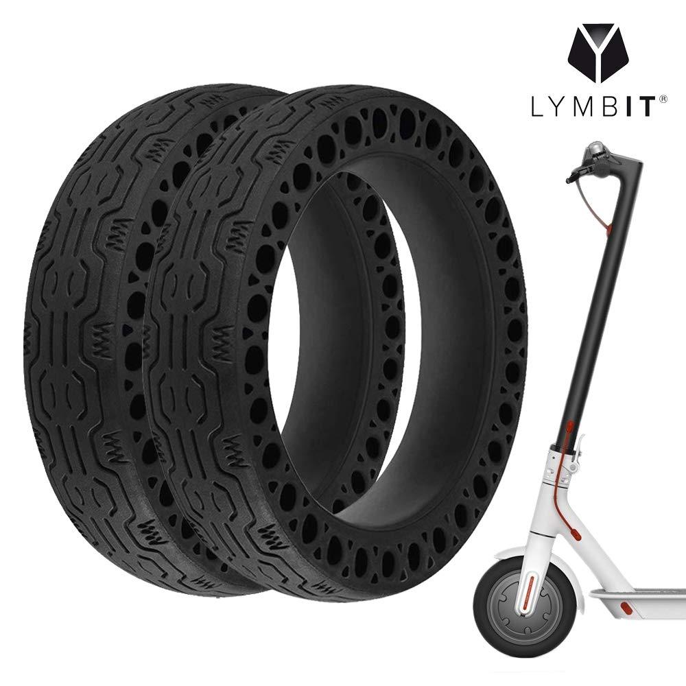 Lymbit 2pcs Neum/ático s/ólido Antideslizante reemplazo para Ruedas Llanta De Patinete Scooter el/éctrico Xiaomi M365