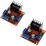 2 PCS L298N DC Motori Motore Passo Passo bipolare per Arduino Raspberry Pi Robot Auto Intelligente, Motore Step Stepper modulo Motore Scheda Driver