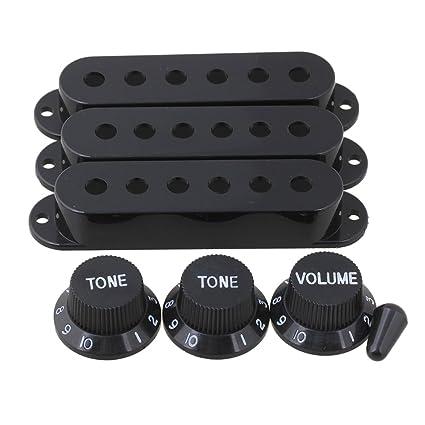 yibuy 48/50/52 mm Pastilla para guitarra eléctrica cubre con negro números 1