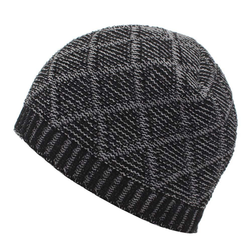 EIWOLCN Men Winter Knitted Hats for Men Women Bonnet Soft Thick Warm Male Winter Hat Cap