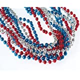 Red, White, & Blue Metallic Necklaces