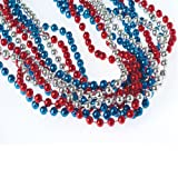 U.S. Toy Red, White, & Blue Metallic Necklaces
