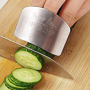 Kitchen Cooking Tools Stainless Steel Finger Hand Protector Guard Personalized Design Chop Safe Slice Knife^.