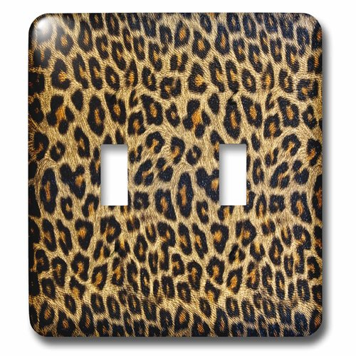 (3dRose lsp_213524_2 Photograph Of A Cheetah Hide Double Toggle Switch)