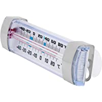 Escali AHF2 Shatter Proof Glass Refrigerator/Freezer Thermometer, Safe Temperature  Indications, White/Silver