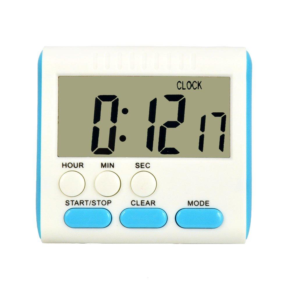 Allescool Timer da Cucina Digitale, Allarme Magnetico 24 ore Orologio Timer con Stand, Grande Schermo