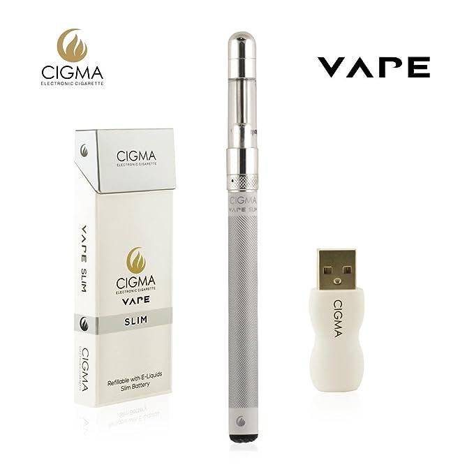 Cigma Vape Worlds Slimmest Smallest Refillable Rechargeable E-Cigarette E  Cigarette Starter Kit E Shisha Rechargeable Battery Refillable Clearomizer