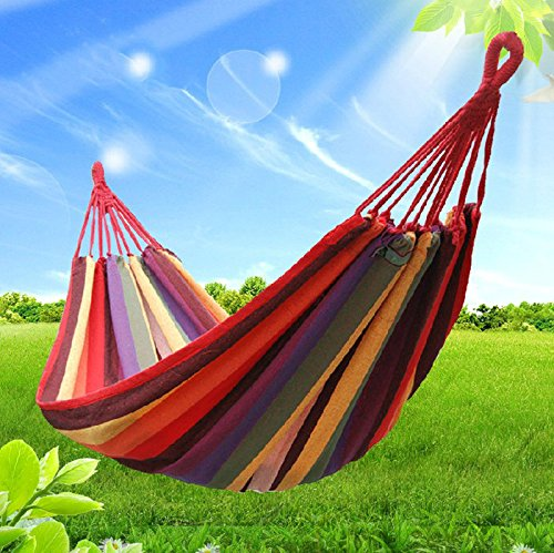 1pc Rushed Hamaca Rede De Dormir Lazy Necessary Outdoor Hammock Color Canvas Hammock
