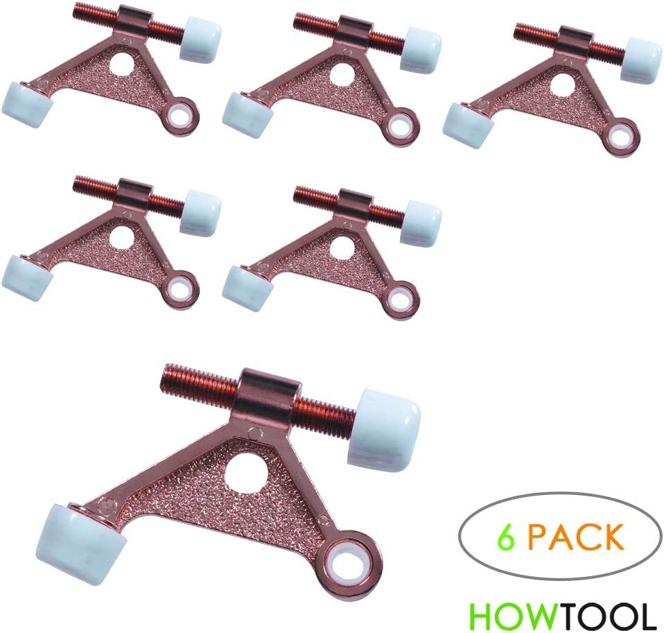 6 Pack HowTool Triangle Hinge Pin Door Stopper Antique Bronze