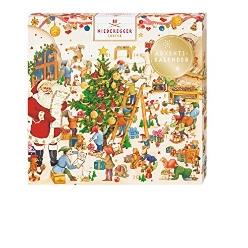 Marzipan Advent Calendar Mini Wichtelwerkstatt - 168 G/6.0 Oz