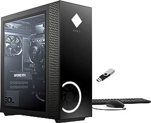 2021 HP OMEN 30L Gaming Desktop AMD Ryzen 5 5600G 6-Core CPU NVIDIA GeForce RTX 3060 (12GB GDDR6) 16GB DDR4 512GB SSD + 1TB HDD Tempered Glass Side Panel w/Ontrend 32GB USB Drive