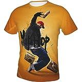 Hip Hop T-Shirt Funny Vintage Street Wear Hipster Parod Shirt Rock T-Shirt Graffiti Short-Sleeved T-Shirt