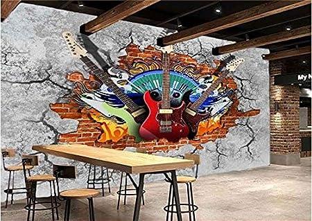 ZLJTYN 270cmX180cm Custom photo 3d wallpaper Silk cloth mural guitar