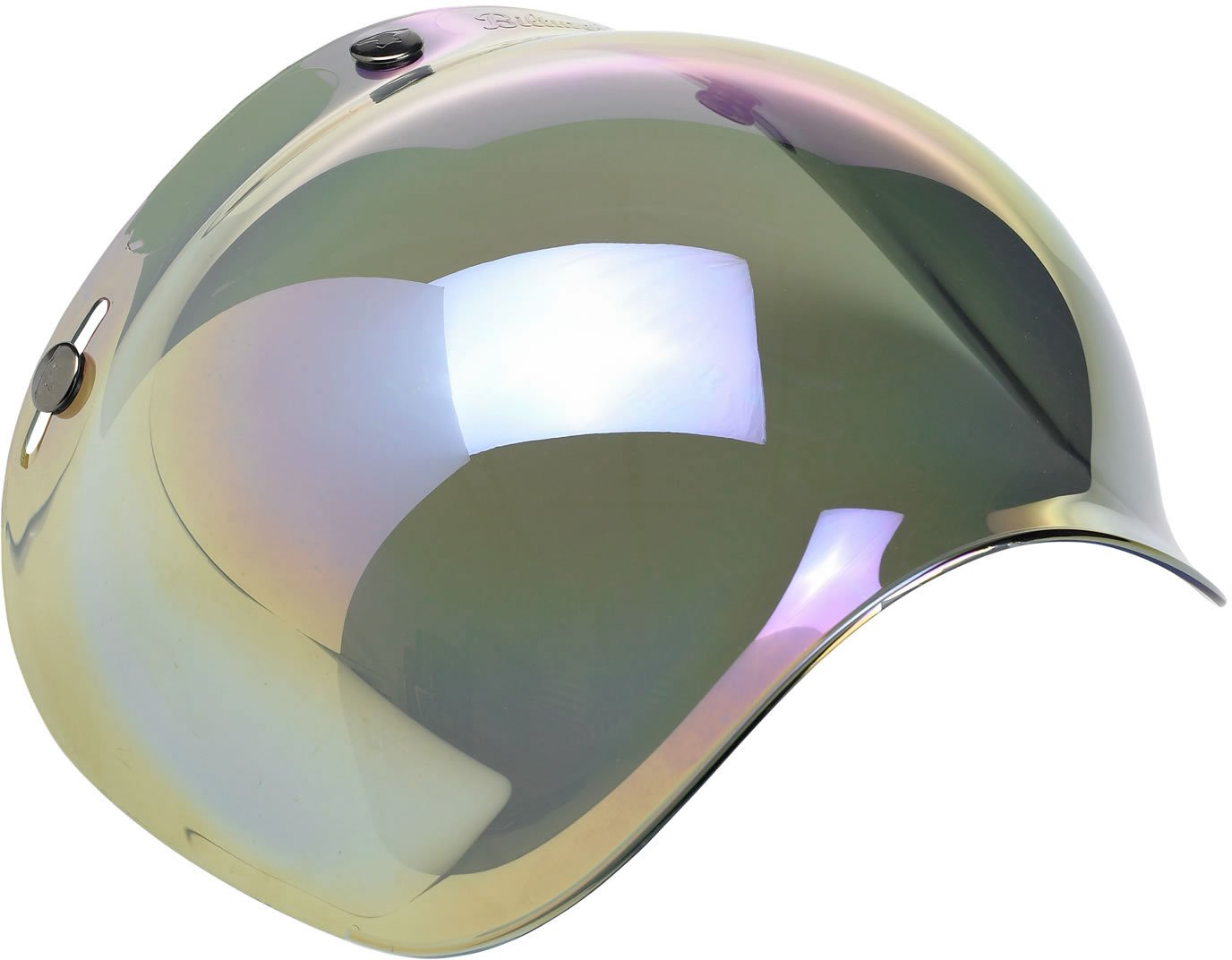 Biltwell Smoke Tint Bubble Shield (Rainbow Mirror, One Size)