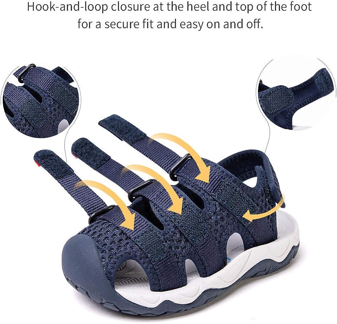 BMCiTYBM Boys Girls Sport Sandals Closed Toe Water Hiking Beach Outdoor Shoes Toddler//Little Kids