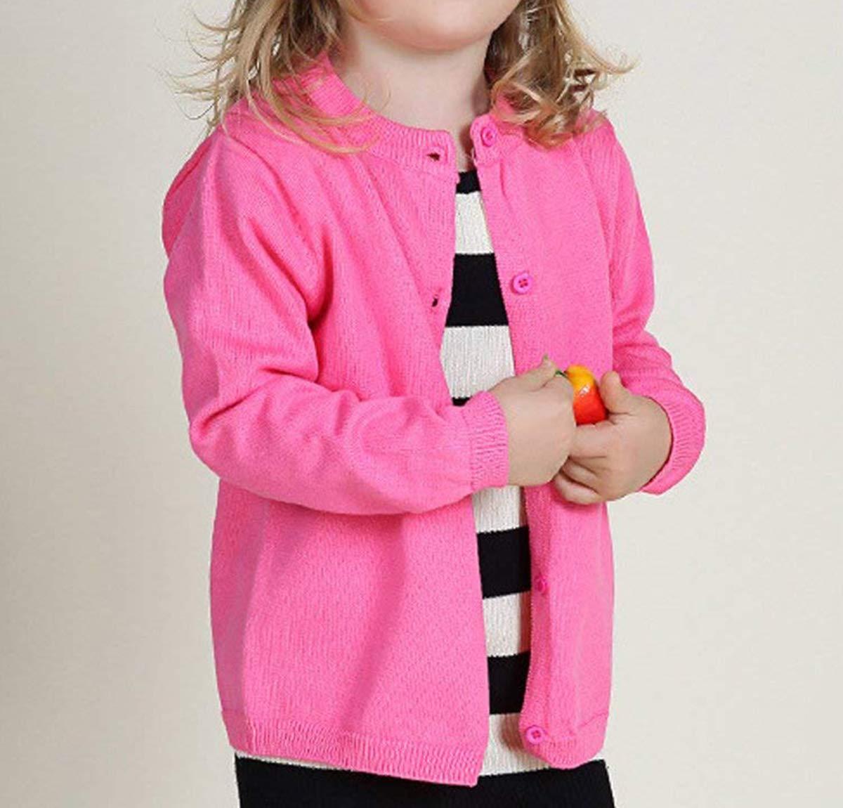 d26e64931efa Dutebare Baby Girls Long Sleeve Cardigans Toddler Crewneck Button ...