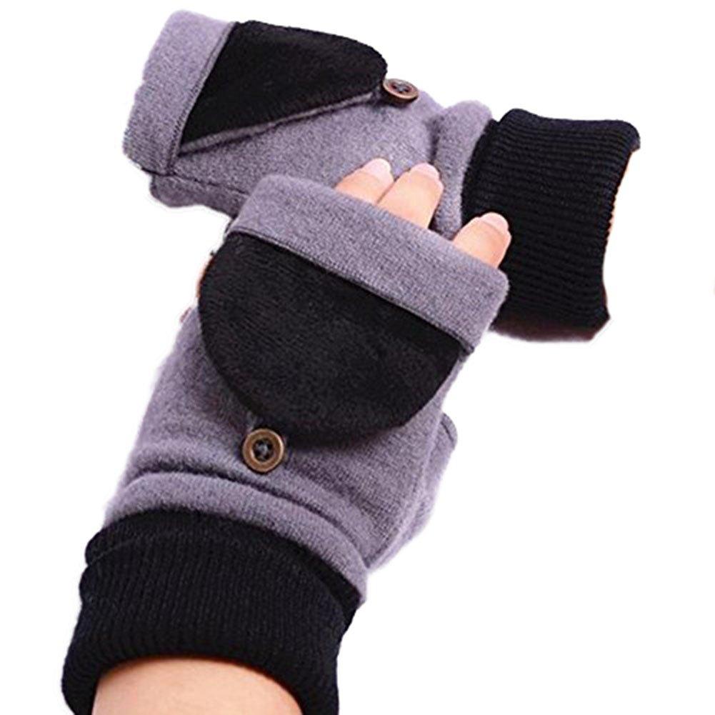 LI& HI Damen Accessory Schnee Winter Fingerhandschuh Handschuhe Halbfingerhandschuhe warme Wollhandschuhe HANDSCHUHE STULPEN mit Armstulpen Handwärmer Zwei Arten von Verschleiß-Methode Weihnachtsgeschenke - Mehrere Farben
