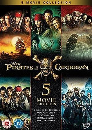 Pirates Of The Caribbean 1 5 Boxset Dvd Amazoncouk Johnny Depp