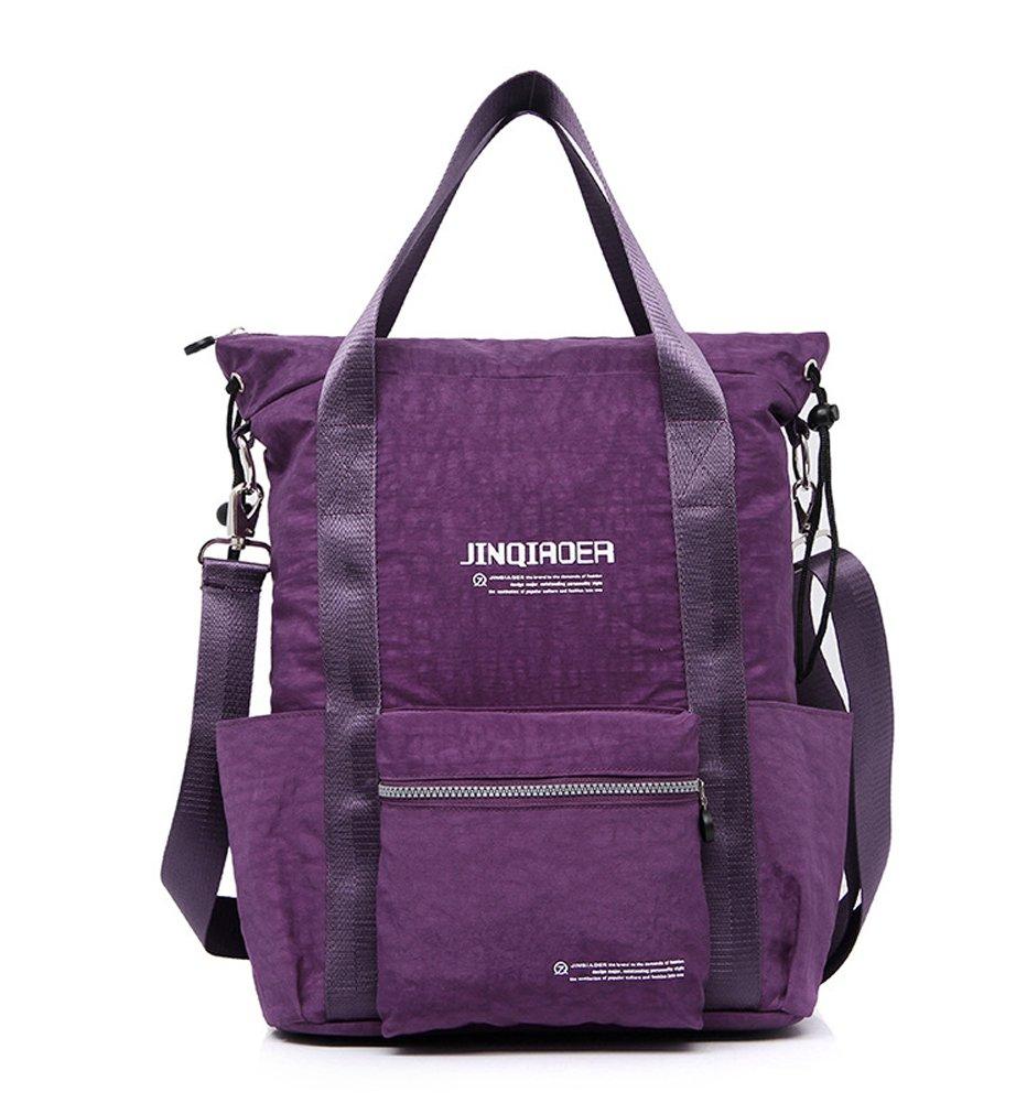 Ecokaki(TM) Fashion Shoulder Bag for Traveler Oversized Casual Handbag Crossbody Hobo Style Tote Vintage Extra Large Shopper Everyday Backpack, Purple