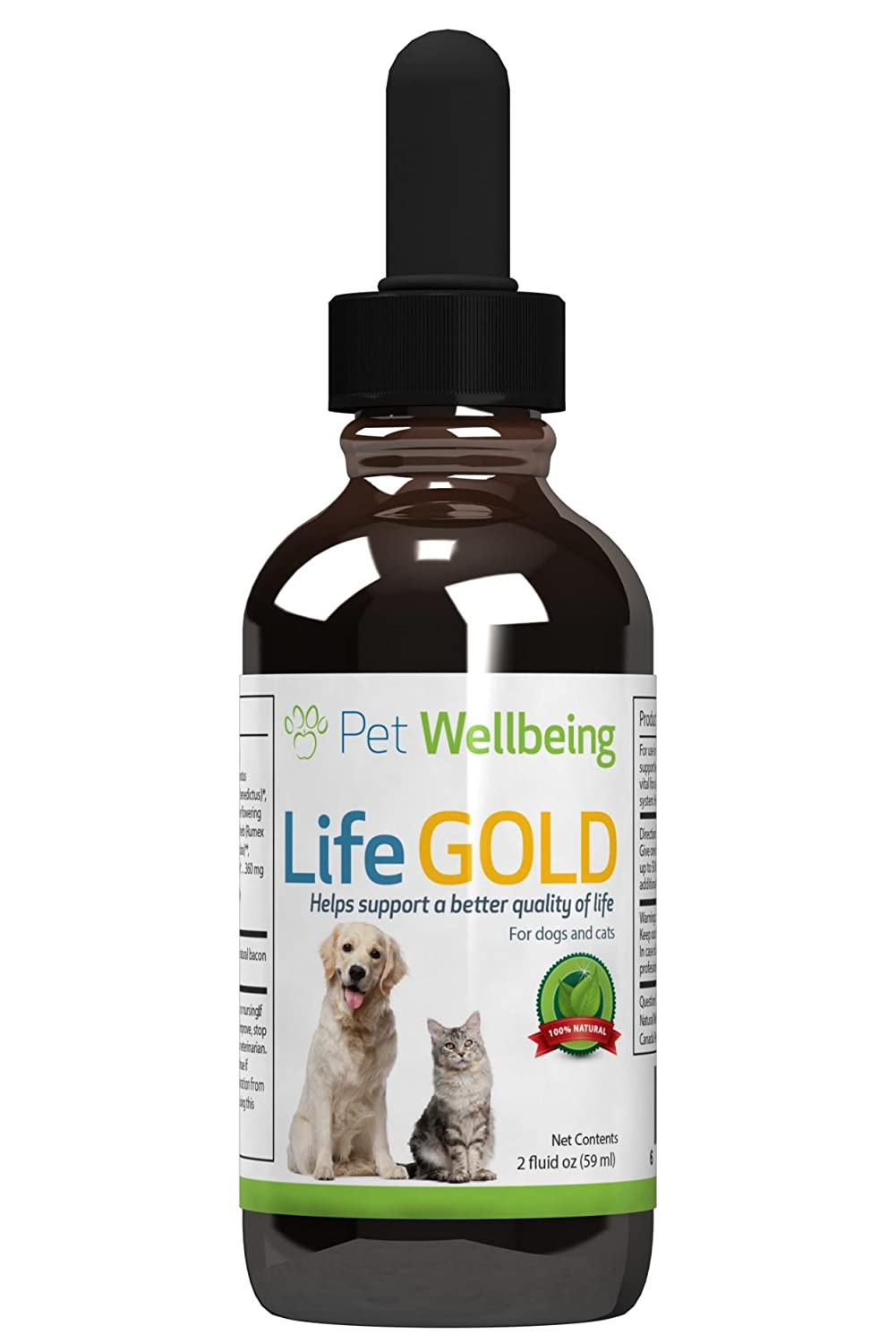 Cancer herbs for dogs - Pet Wellbeing Life Gold Dog Cancer Support A Natural Herbal Supplement That Helps Manage The Symptoms Of Canine Cancer 2 Oz Liquid Bottle