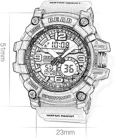 JM- Reloj, Reloj Deportivo para Hombre Reloj analógico ...
