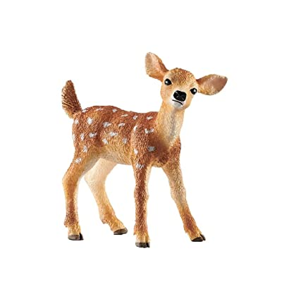 SCHLEICH Wild Life White-Tailed Fawn Educational Figurine for Kids Ages 3-8: Toys & Games
