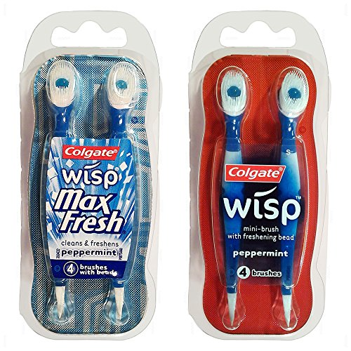 Colgate Wisp - Wisp Toothbrush - Camping Toothbrush - Mini Toothbrush - No Water Needed - Guaranteed Freshness. Great for Camping, Traveling. Each Pack Is Small, Compact and Contains 4 Disposable Toothbrushes. Clean Teeth and Fresh Breath - 5 Packs by Wisp Max Fresh (Image #6)