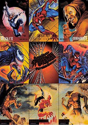 SPIDER-MAN 1995 FLEER ULTRA UNCUT 9-CARD PROMO CARD SHEET MARVEL ()