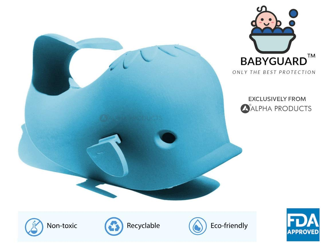 Faucet Spout Cover by Alpha Baby Products   Soft Rubber Faucet Spout Cover for Child Safety and Protection from Injury