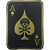 Spade Card Poker Ghost Skull Crossbones Embroidered Iron on Patch