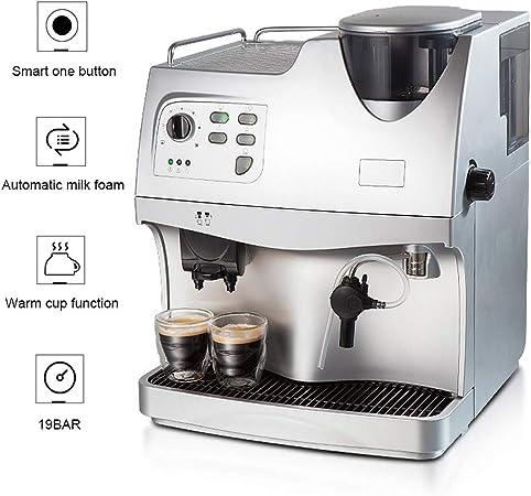 WLNKJ Cafetera Automático, Sistema De Espuma De Leche Función Inteligente De Un Botón Función De Doble Taza 19 Bar Máquina De Café Y Capuchino Súper - Oficina Doméstica: Amazon.es: Hogar