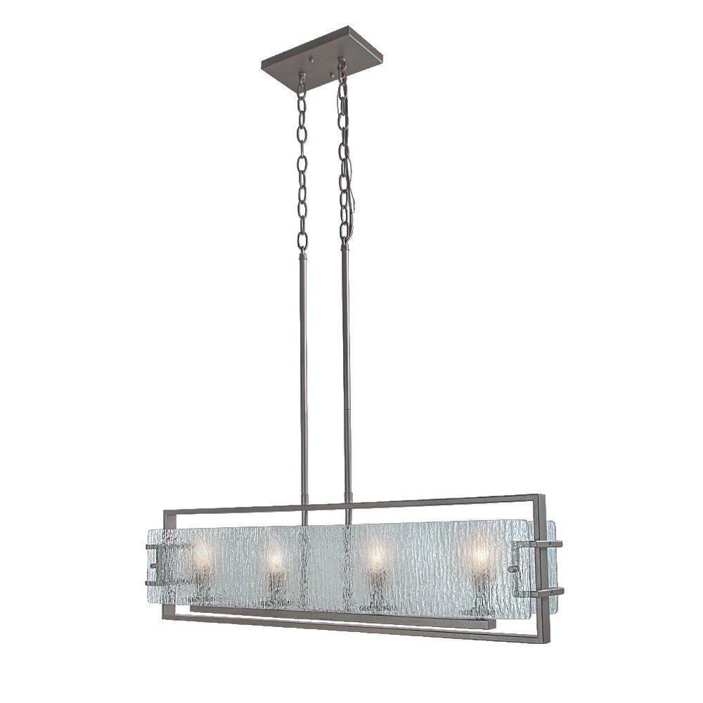LALUZ 4-Light Kitchen Island Lighting Pendant Lights Linear Chandeliers