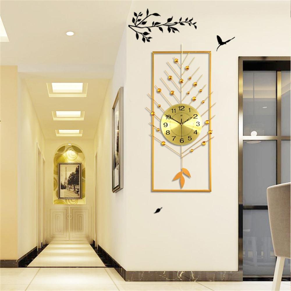 ALUPリビングルームモダンシンプルクリエイティブ時計ヨーロッパのパーソナリティミュートベッドルームの装飾クォーツ時計 (色 : ゴールド) B07F258Y7Mゴールド