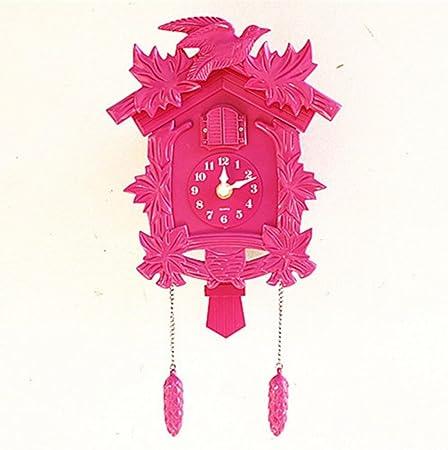 GBDSD Creative cuckoo wall clock plastic living room music clock ...