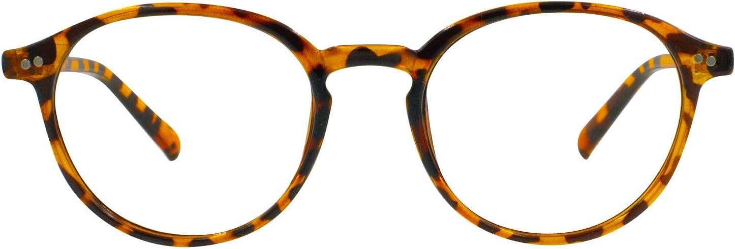 Foxmans Gafas para Computadoras y Pantallas Digitales, Filtro de Luz Azul - El Lennon | Uso diario (marco de carey)