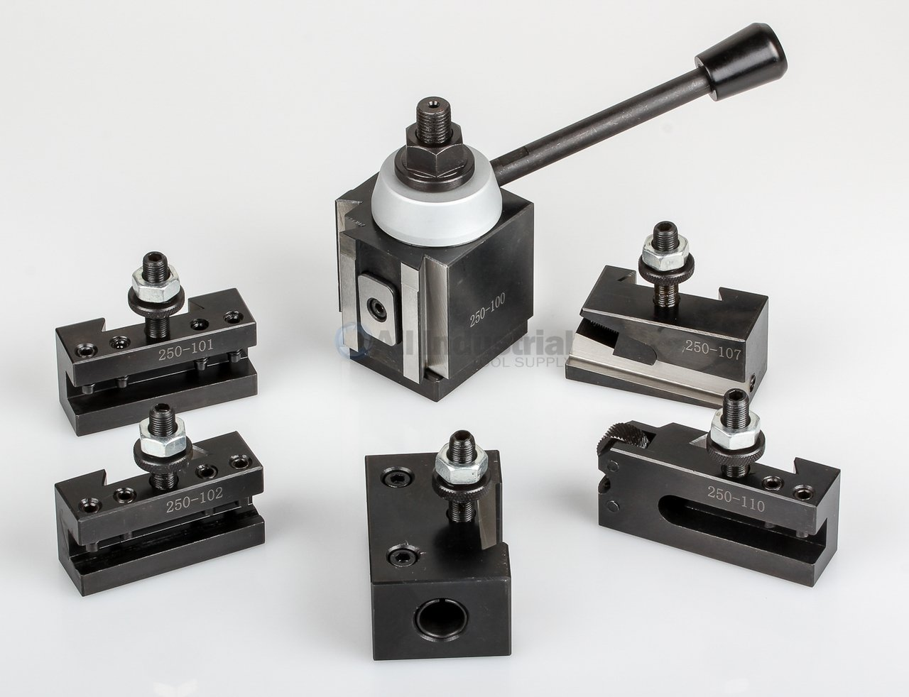 AXA Piston Tool Post Set CNC High Precision Quick Change Lathe Holder 100 Series by All Industrial