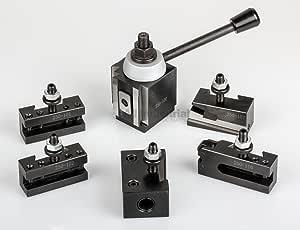 Shars 6-12 Inch CNC Lathe AXA Piston Quick Change Tool Post Set 250-100 202-9461 M