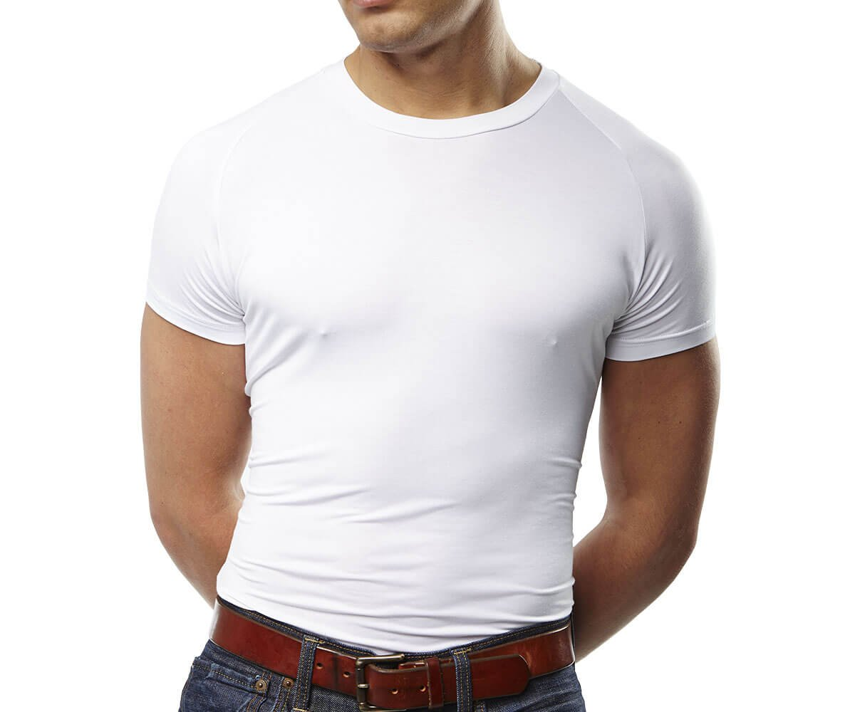 Mr. Davis Men's Bamboo Viscose Traditional Cut Crew Neck Undershirt, L, White, 6 Pack