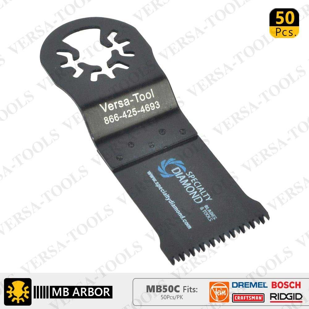 Versa Tool MB50C 35mm Japan Cut Tooth HCS Multi-Tool Saw Blades 50/Pack Fits Fein Multimaster, Dremel, Bosch, Craftsman, Ridgid Oscillating Tools