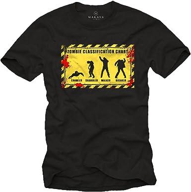 Camiseta Halloween Hombre Zombie Chart: Amazon.es: Ropa y accesorios