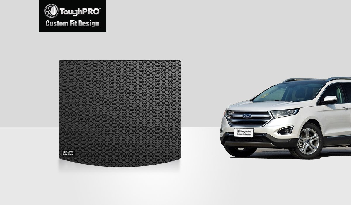Ford Edge Accessories >> Toughpro Cargo Trunk Mat Accessories Compatible With Ford Edge All Weather Heavy Duty Made In Usa Black Rubber 2015 2016 2017 2018