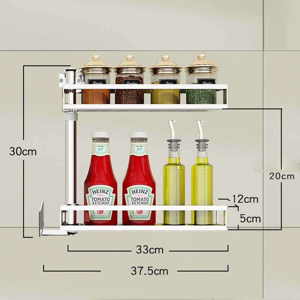 CCF Edelstahl Punch Kitchen Corner Shelf Wand-Drehbare Gewürzregal Wand Storage Supplies CCFSF (größe   80  37.5CM)  3037.5CM