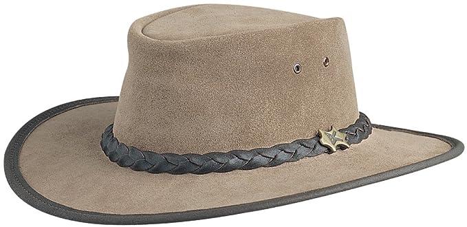 Conner Hats Men s Bush Walker Suede Australian Leather Hat 7301dae281e