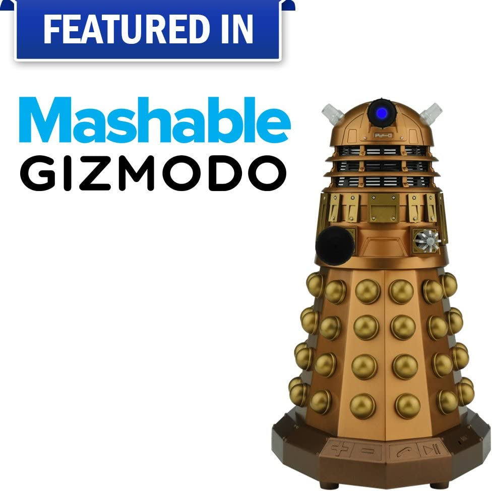 Dalek Figure LEDs and Sound Effects Dalek Sec Bluetooth Speaker Pack with MIC Unique Gifts for Men or Women Doctor Who Assault Dalek Christmas Gifts Birthday Anniversary Toy Geek Nerd Collect